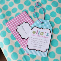 Tiny Party Birthday Party Printable Invitation - Pink or Aqua